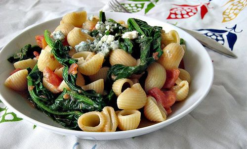 pasta with tomato-blue cheese sauce | nom | Pinterest
