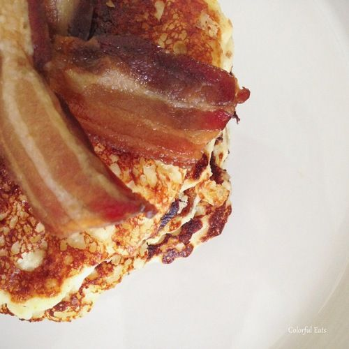 Cheese Bacon Griddle Cakes—grain and gluten free. Pancakes with a ...