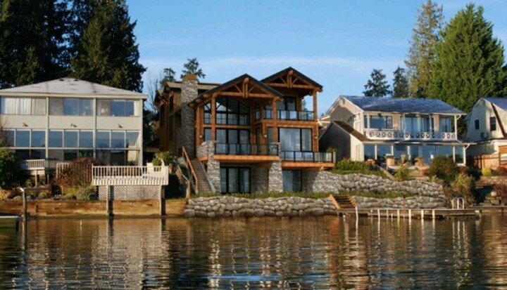 Lake Front Homes For The Home Pinterest