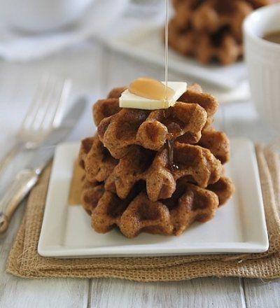 Pumpkin Ginger Waffle Bites (gluten free)