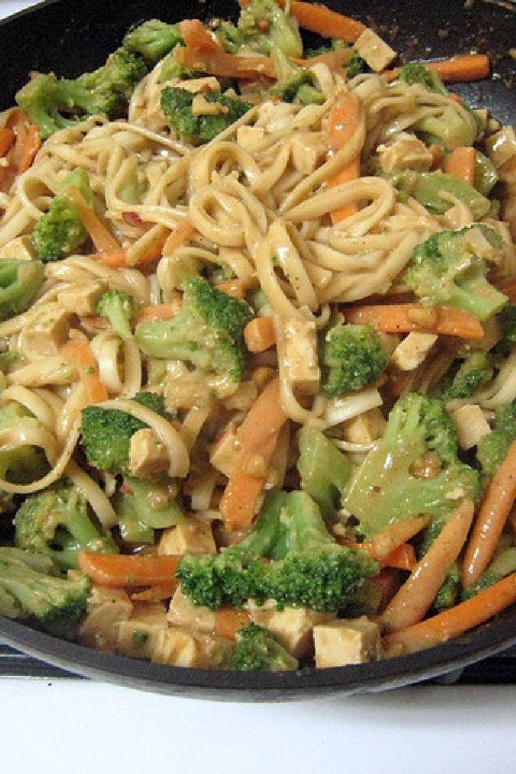 Thai Peanut Noodle Stir-Fry - use sweetener other than honey. vegan.