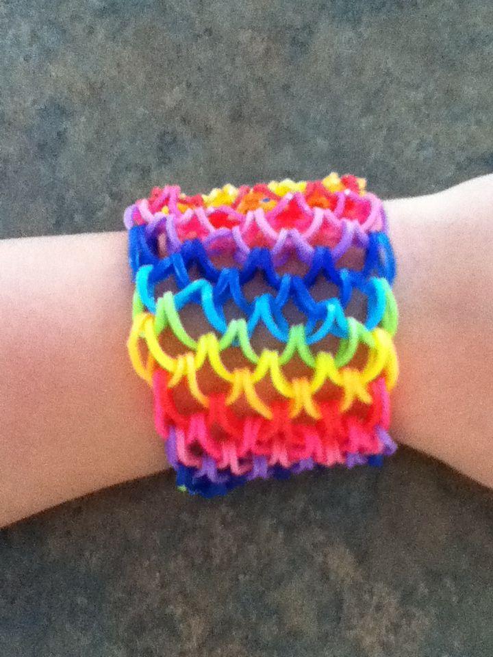 Rainbow Loom Dragonscale Cuff