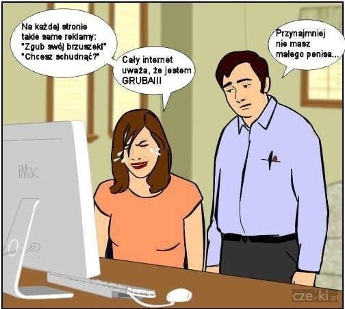 Grube kobiety i małe penisy w internecie