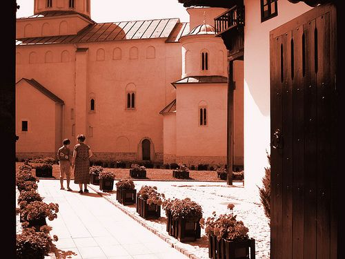 A View Through the Portal of The Monastery Mileseva