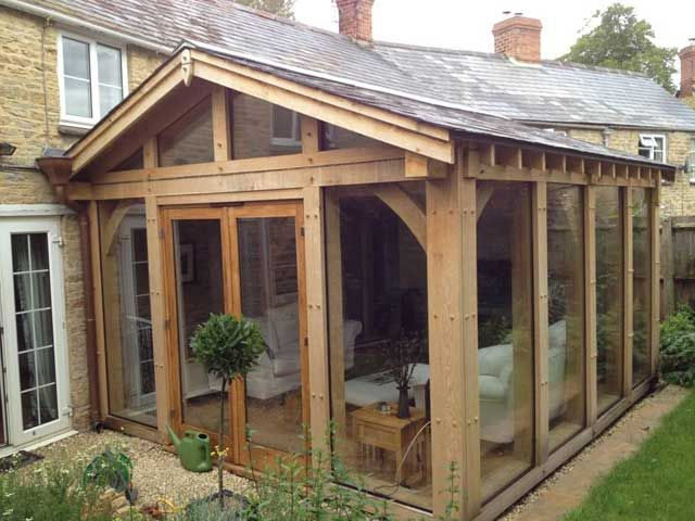 Oak conservatory ideas for my dream home pinterest for Wooden garden rooms extensions