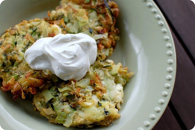 Zucchini Fritters with Feta & Dill @33 Shades of Green: http ...