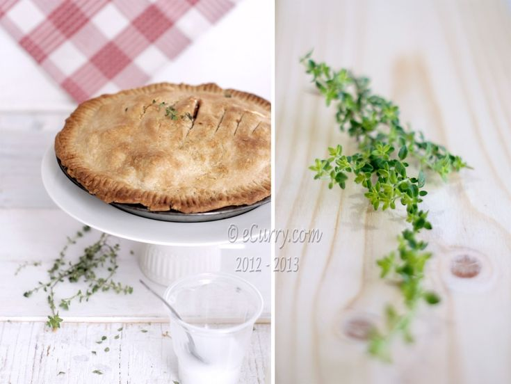Apple Pie with Lemon Thyme and Ginger