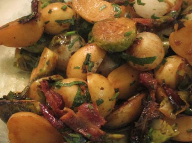 Brussels sprouts/potato hash | Recipes | Pinterest