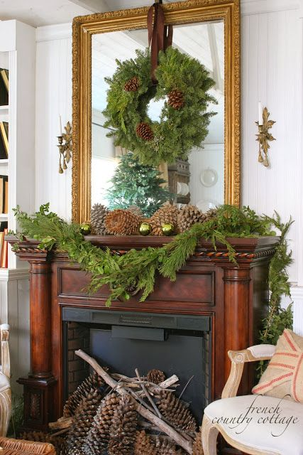 FRENCH COUNTRY COTTAGE: Merry Christmas. I like the wreath on the ...