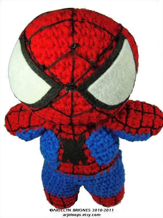 SPIDERMAN CROCHET DOLL (no pattern) Superhero Pinterest