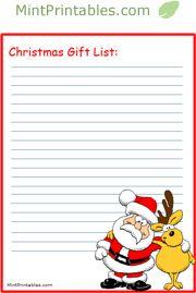 Printable Christmas Lists and Holiday Planners