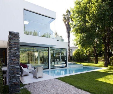 Fachadas de casa moderna casa pinterest - Arquitectura moderna casas ...