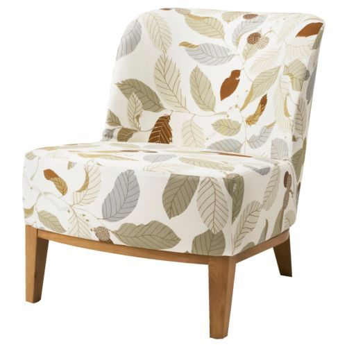 Ikea stockholm easy chair cover blad brown slipcover leaf leaves flor - Ikea chaise stockholm ...