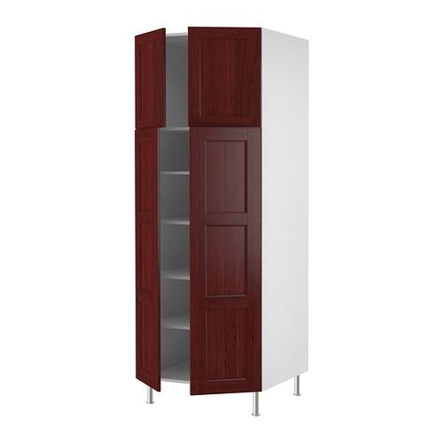 Akurum High Cabinet With Shelves 4 Doors White H Rlig White