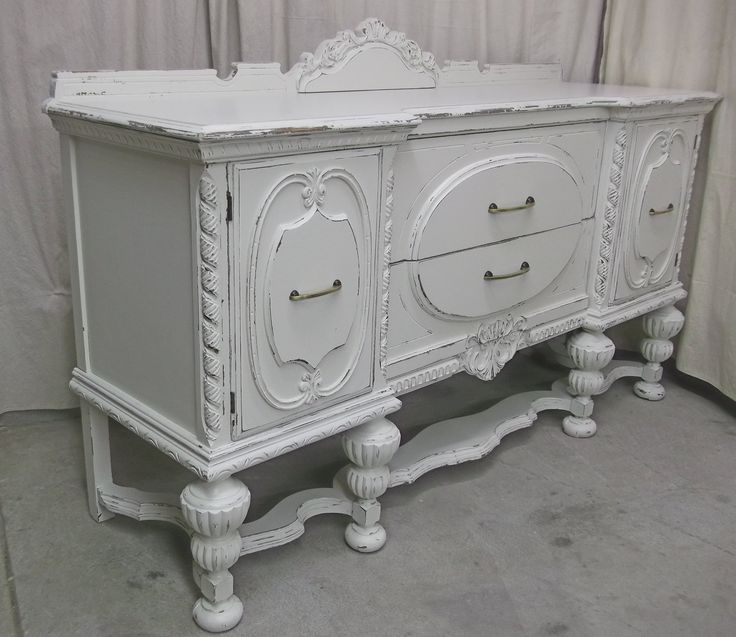 shabby white 1920 39 s buffet sideboard chic sb501 595. Black Bedroom Furniture Sets. Home Design Ideas