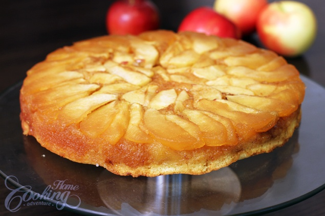 Apple Upside Down Cake :: Home Cooking Adventure