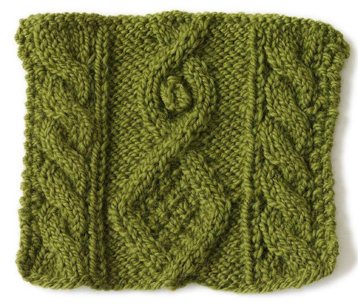 Knit Stitch: Diamond And Bobble knit it Pinterest
