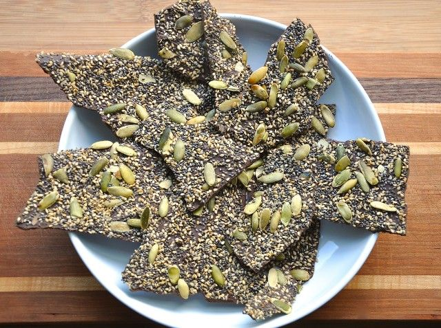 Salty Seedy Chocolate Bark | Gorgeous Vegan Food - Appetizers/Snacks ...