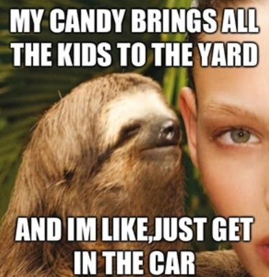 Creepy sloth whisper - photo#13