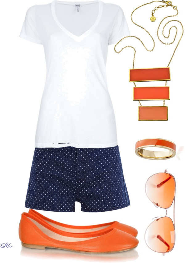 """Orange and Blue 2"" by coombsie24 ❤ liked on Polyvore"