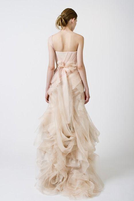 Vera Wang- bridal w/a hint of color. Love this
