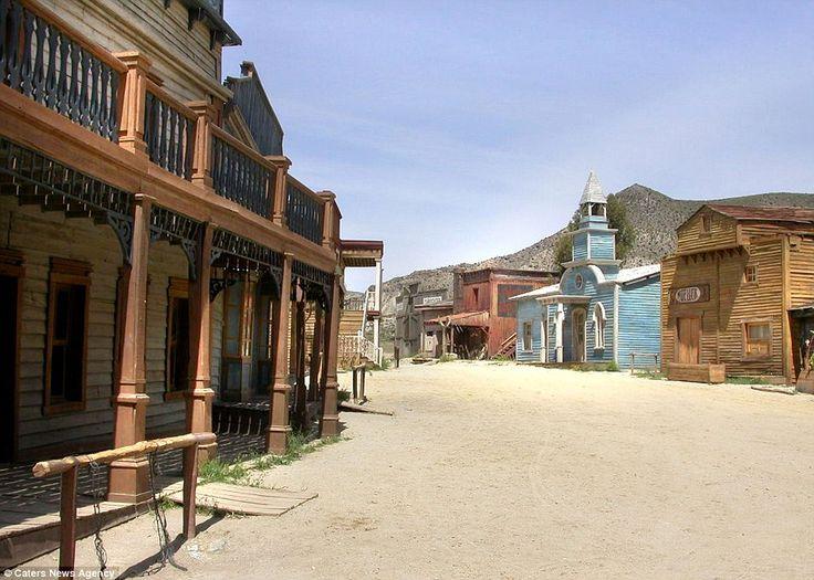 abandon movie set old west town architecture pinterest
