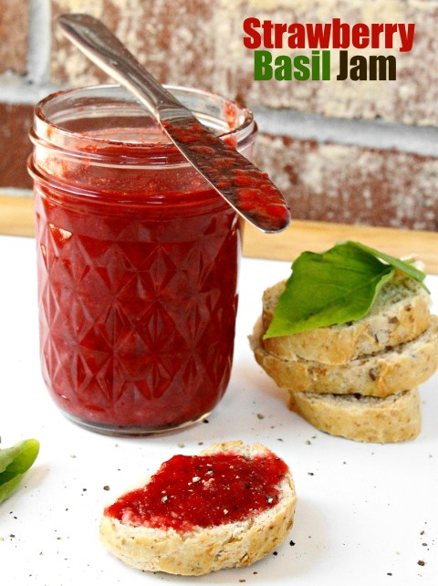 Strawberry Thyme Jam Recipe — Dishmaps