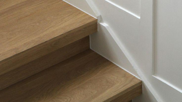 Massief eiken houten opzettreden om uw bestaande trap te renoveren massief grenen houten - Te vernieuwen zijn houten trap ...