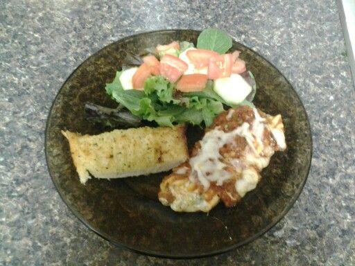 Homemade spinach and artichoke manicotti, homemade sauce, homemade ...