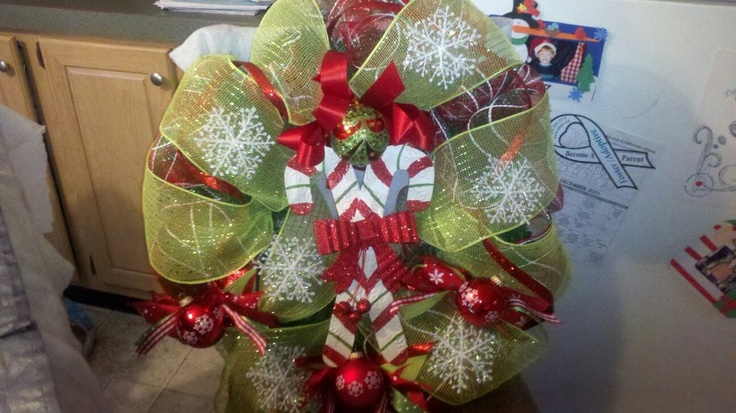 Christmas Wreath Holiday Decorations Ideas Pinterest