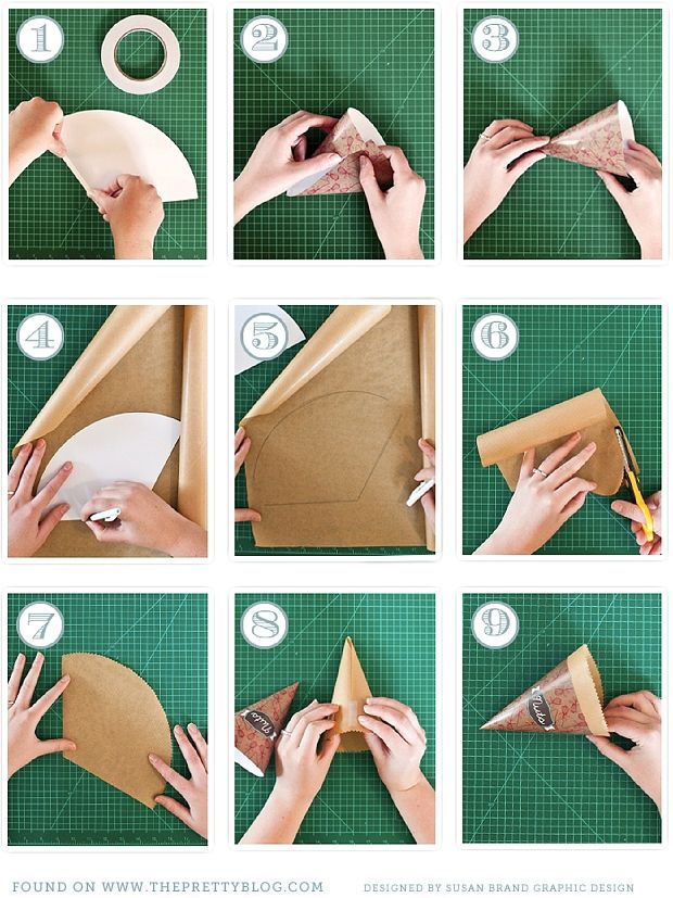 how to make a cone with construction paper