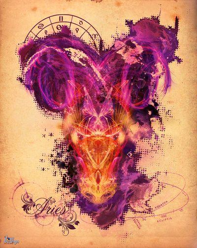 Aries - The Ram Art Print   aries   Pinterest