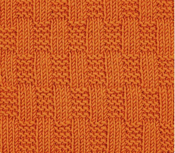 Плед с узором плетенка