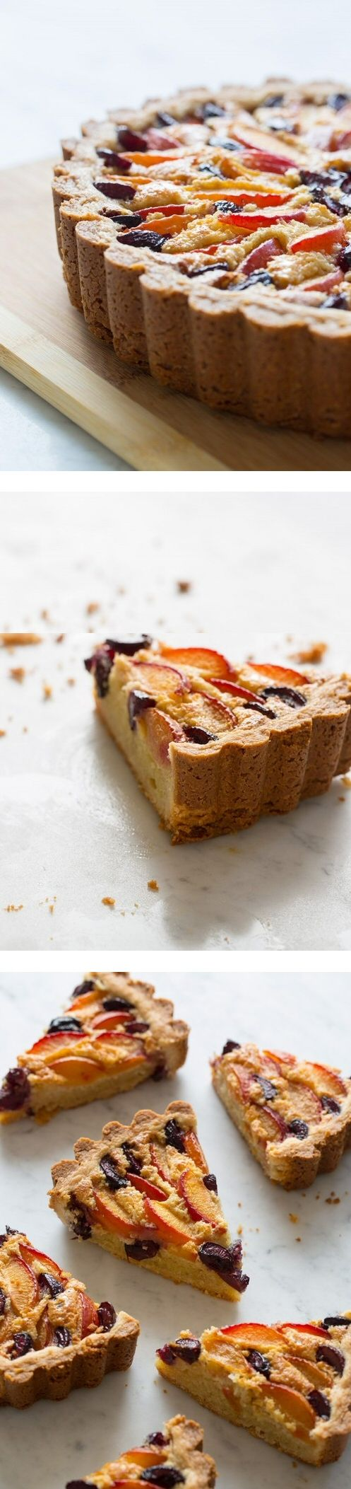 Red Apricot and Sweet Cherry Tart | Food | Pinterest