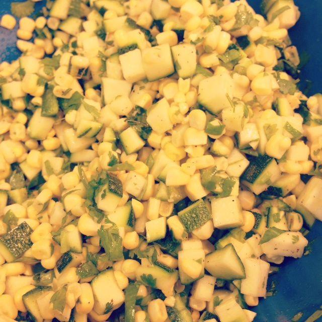 Fresh Corn & Zucchini Salad!!! | NumYummy | Pinterest