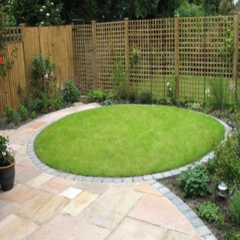 round patio designs small garden design ideas circular lawn and patio pinte