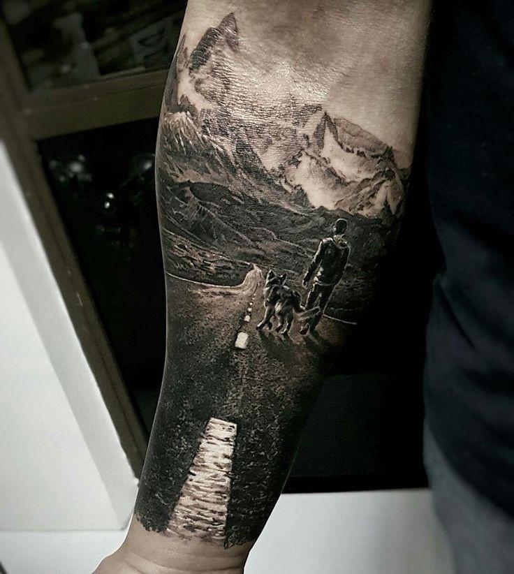 Татуировки модные на всю руку