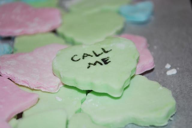 homemade conversation hearts | Recipes | Pinterest