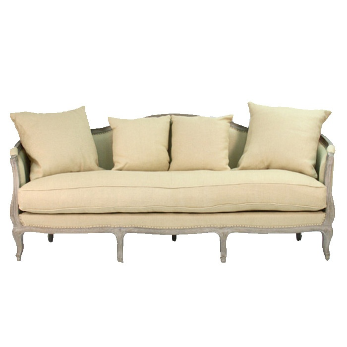 French style hemp sofa maison decor french country pinterest - French country sectional sofas ...