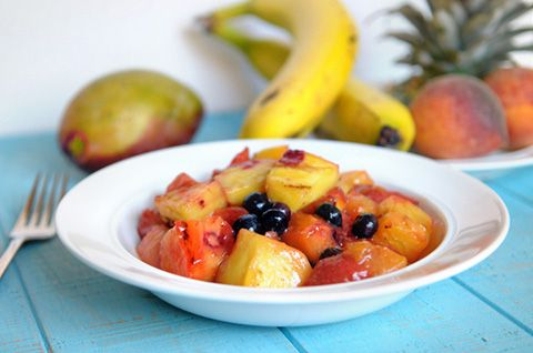 curry marinated grilled fruit salad | Appetizers and Snacks: sweet ...