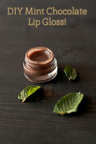 DIY Mint Chocolate Lip Gloss