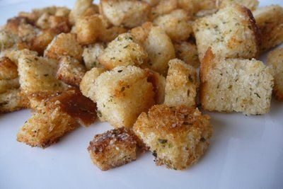 Sourdough Garlic-Herb Croutons | Recipes - breads | Pinterest