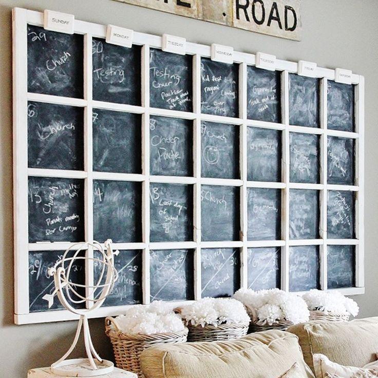 Diy Calendar Chalkboard : Chalkboard wall calendar