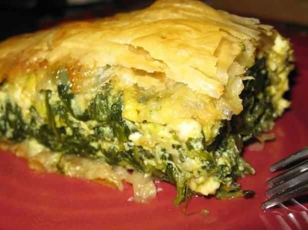 Spanakopita, Spinach Pie from Food.com: Delicious, traditional Greek ...