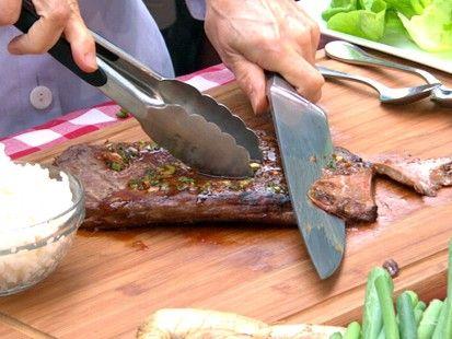 Sara Moulton 's Korean-Style Grilled Flank Steak (Honey instead of ...