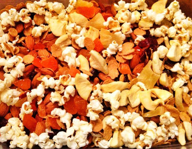 Popcorn Trail Mix 1 1/2 cup = 349ca. Kettle corn Almonds Fiber One ...