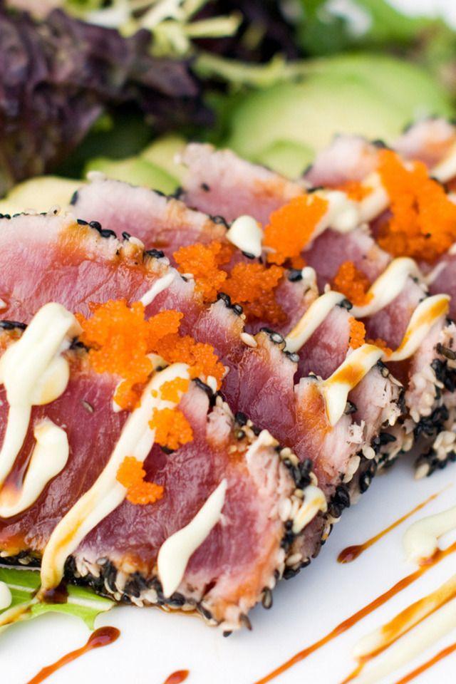 Pan-Seared Sesame-Crusted Tuna Recipe — Dishmaps