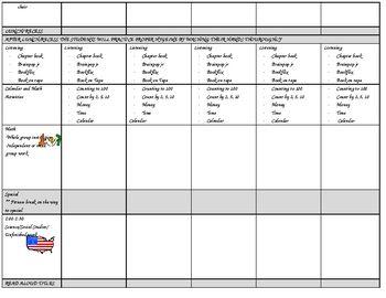 Planbook Weekly Template Free School Ideas Pinterest