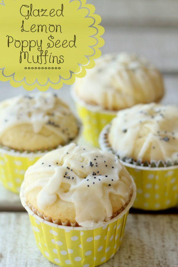 Glazed Lemon Poppy Seed Muffins. | Food, glorious food:) | Pinterest