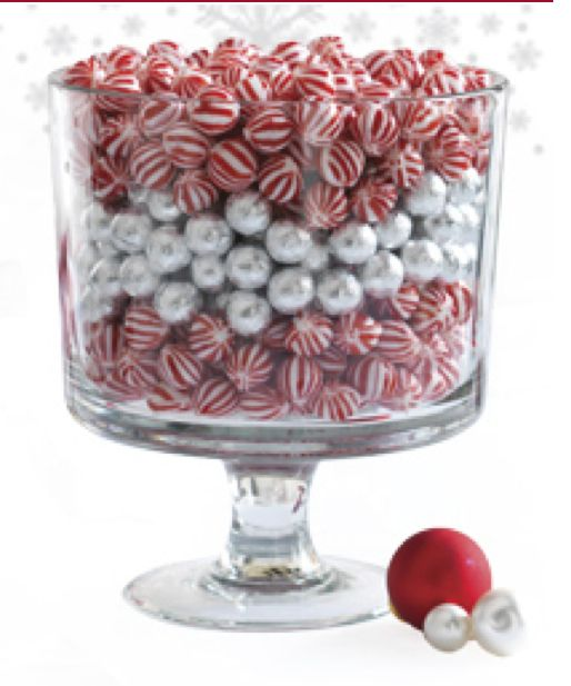 Pampered chef trifle bowl centerpiece christmas